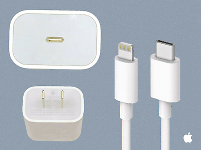 ORIGINAL APPLE 18W Fast Charger - USB-C Lightning Cable iPhone 11  Pro  Max