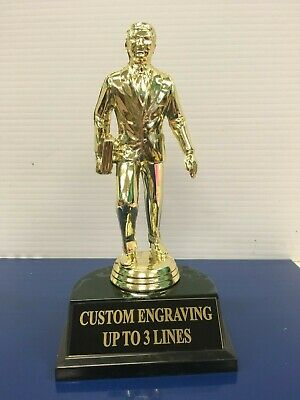 The Office Dunder Mifflin Dundie Award Trophy with personalized engraved plate