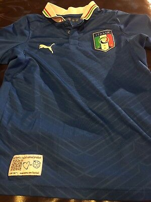 Italy Puma World Cup Soccer National Team Jersey Youth Small Calcio
