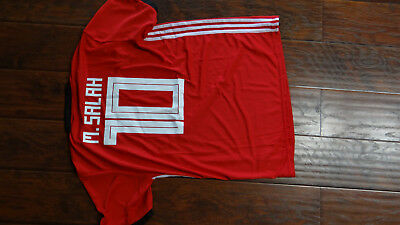 NEW WITH TAGS WORLD CUP 2018 MENS ADULT MOHAMED SALAH EGYPT JERSEY SIZE XL