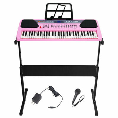 61 Key Music Electronic Keyboard Electric Digital Piano Organ w Stand Optional