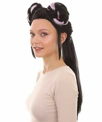 Black Buns Wig Cosplay Netta Barzilai Eurovision Song Contest 2018 Party Costume