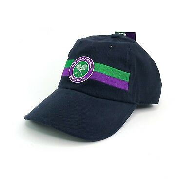 Wimbledon The Championships Hat Strapback Adjustable Cap Navy Blue Tennis