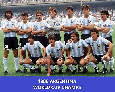 1986 ARGENTINA 8X10 TEAM PHOTO SOCCER PICTURE WORLD CUP CHAMPS