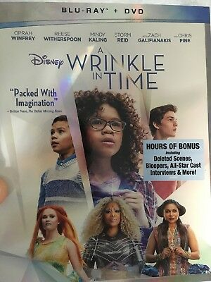 A Wrinkle in Time Blu-Ray ONLY 2018 w SLIP COVER