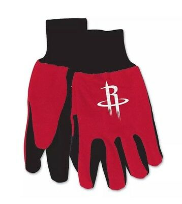 Houston Rockets Colored Palm Utility Gloves