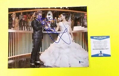 Stanley Tucci signed Hunger Games 8X10 photo with BAS COA Jennifer Lawrence
