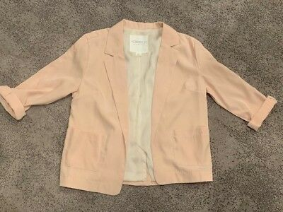 Womens FOREVER 21 ESSENTIALS blaxer with 34 sleeves size s light pinkpeach
