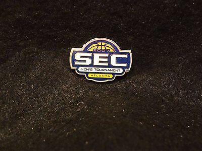 2007 SEC MENS BASKETBALL TOURNAMENT ATLANTA LAPEL PIN  NEW CARDED