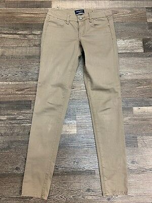 American Eagle OUtfitters Light Brown Jeggings Skinny Pants Super Stretch Size 4
