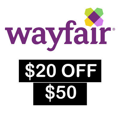 20 off 50 Wayfair Coupon for NEW customers only  FAST SHIPPING