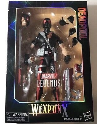 MARVEL LEGENDS SERIES AGENT OF WEAPON X 12-INCH DEADPOOL FIGURE X FORCE CABLE