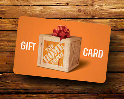 HOME DEPOT GIFT CARD 100-00 Card Value FREE SHIPPING