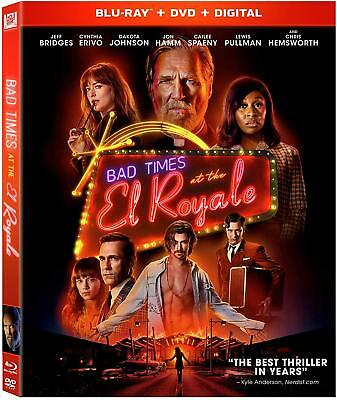 Bad Times At The El Royale Blu Ray - DVD - Digital w SLIP COV FREE SHIP