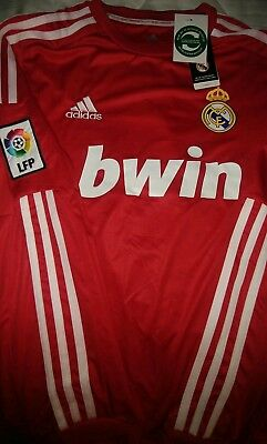 NWT Real Madrid Large 2011-2012 Third Red Jersey Cristiano Ronaldo 7