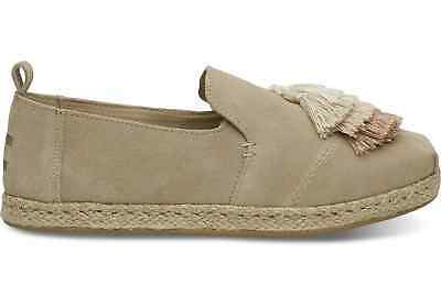 Toms DECONSTRUCTED ALPARGATA Womens Rope Oxford Tan 10011721 Suede Flats Shoes