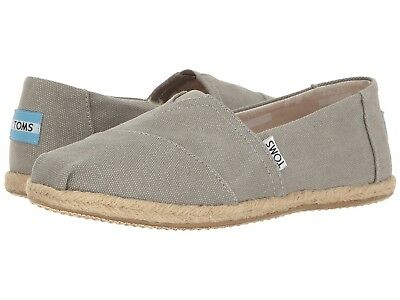 Toms CLASSIC Womens Drizzle Grey Washed Canvas 10009754 Slip On Flats Shoes