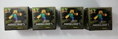 NEW LOT OF 4 - Minecraft Craftables Blind Box Series 1- Unopened