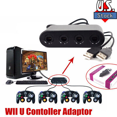 4 port GameCube Controller Adapter for Nintendo Switch Wii U - PC USB NEW TURBO