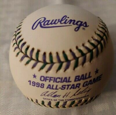 1998 MLB ALL STAR GAME OFFICIAL BASEBALL COLORADO ROCKIES