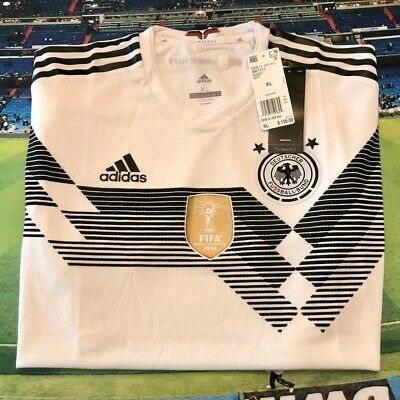 GERMANY 2018 MENS DFB WHITE SOCCER JERSEY NEW ADIDAS SIZE XL WORLD CUP