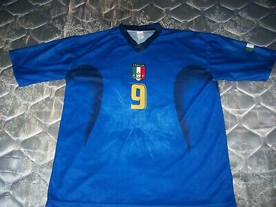 VINTAGE ITALY SIZE XL TONI 9 SOCCER JERSEY world cup NATIONAL TEAM