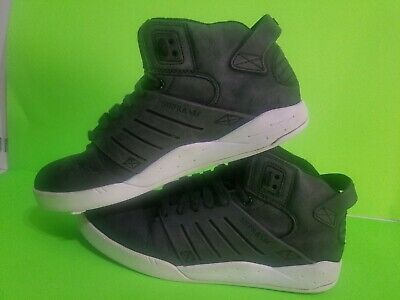 SUPRA BLACK  WHITE MEN SHOES SIZE 10-5