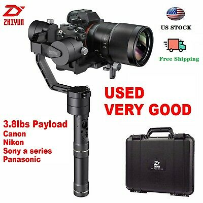 Used Zhiyun Crane V2 3-Axis Handheld Stabilizer Gimbal for DSLR Cameras Sony