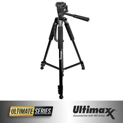 60 Inch Heavy Duty Pro Series Universal Camera Video Full Size Tripod Black