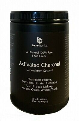 LARGE - Less-Mess Jar - Coconut Activated Charcoal Powder - Food Grade Kosher