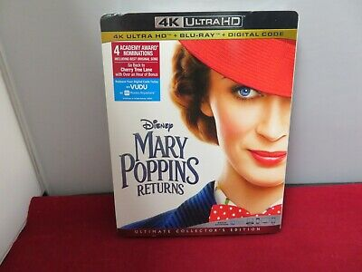 Mary Poppins Returns 4K UHD-Blu-Ray-Digital Code Brand New