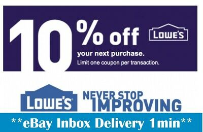 THREE 3X Lowes 10 OFF3Coupons-InStore and Online-SENT-FAST-1-min-