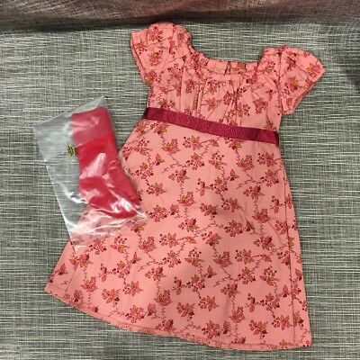 American Girl Carolines Travel Dress with Pair of Red Socks for 18-inch Dolls