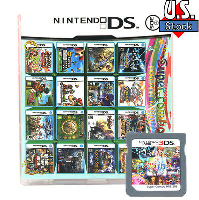 208 IN 1 Nintendo Games Card Cartridge Multicart For DS NDS NDSL NDSi 2DS 3DS US