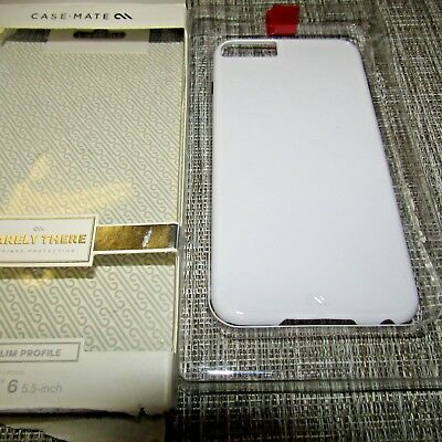 CASE MATE BARELY THERE FOR APPLE IPHONE 6 WORKS WHITE PLEASE READ 2484