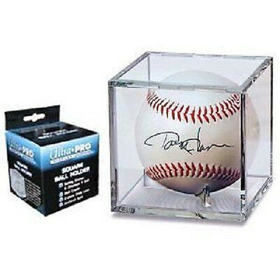 Ultra Pro UV Baseball Cube Holder with stand New Ball Cubes