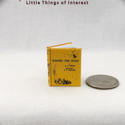 WINNIE THE POOH Miniature Book Dollhouse 112 Scale Illustrated Readable Book