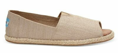 Toms ALPARGATA Womens Natural Yarn Dye 10009845 Open Toe Flats Shoes