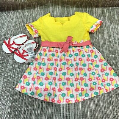 American Girl Bright - Dotted Dress with Red Sandals for Dolls