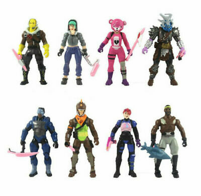 8pcSet Fortnite Battle Royale Season 8 PVC Action Figure Display Playset Toy