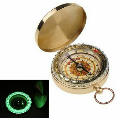 Vintage Brass Dalvey Style Compass with Lid - Old Nautical Pocket Necklace