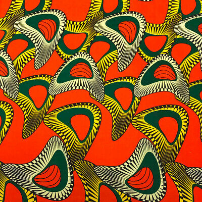 African Print Fabric 100 Cotton 44 wide sold by the yard 90146-1