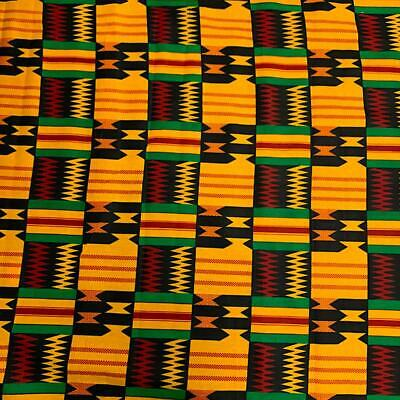 Kente African Print Fabric 100 Cotton 44 wide sold by the yard 19004-2