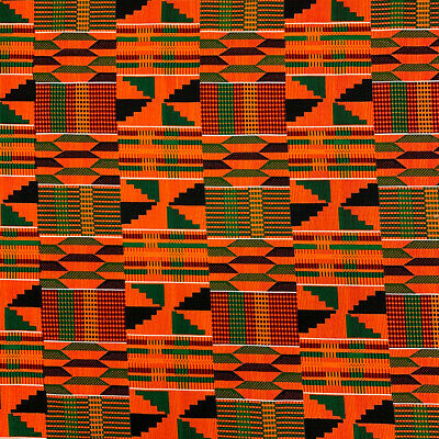Kente African Print Fabric 100 Cotton 44 wide sold by the yard 19006-2