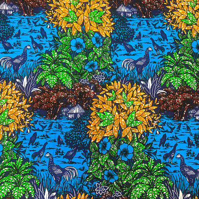 African Print Fabric 100 Cotton 44 wide sold by the yard 90189-4