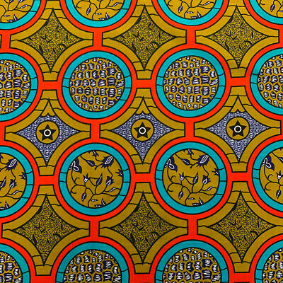 African Print Fabric 100 Cotton 44 wide sold by the yard 90213-5
