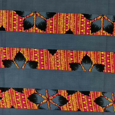 African Print Fabric 100 Cotton 44 wide sold by the yard 90218-4