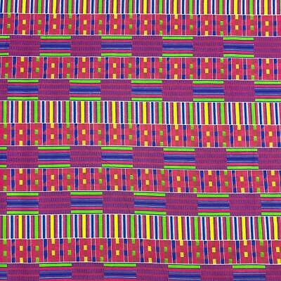 African Print Fabric 100 Cotton 44 wide sold by the yard 90197-3