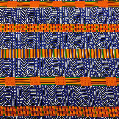 Kente African Print Fabric 100 Cotton 44 wide sold by the yard 19009-6