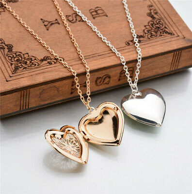 Mothers Day Heart pendant 1 Photo Frame Pendant Necklace Jewelry Gift Solid